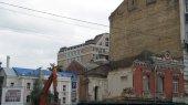 Прокуратура приостановила стройку на месте снесенного дома Грушевского в Киеве (ФОТО)