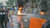 Активисты не хотят покидать палаточный городок на Майдане. Начали поджигать шины