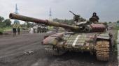 Террористы в Новоазовске маскируют танки под украинские, вероятно — готовя провокацию