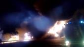На трассе Киев — Харьков ночью горел бензовоз