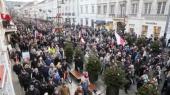 На улицы Варшавы вышли 50 тысяч человек на манифестацию против действий власти