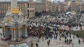 На Майдане произошла стычка между протестующими и правоохранителями