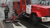 В горящем здании Минобороны РФ обрушилась кровля на площади 1,2 тыс. кв. метров (обновлено)